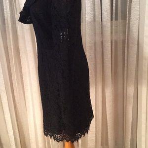Wayf Dresses - Wayf elegant black lace dress with unique details